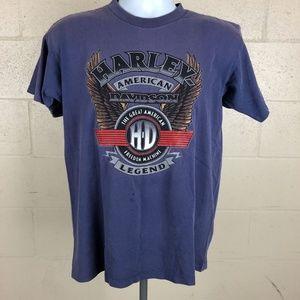 Harley Davidson Men's T-shirt Size M Purple HB8
